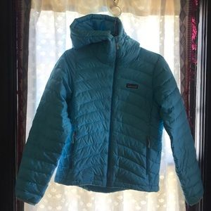 Patagonia Blue Puff Jacket with Hood